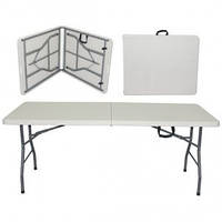 Складной стол 183х75,5х75,5 см, складывается как чемоданчик, 10,6 кг