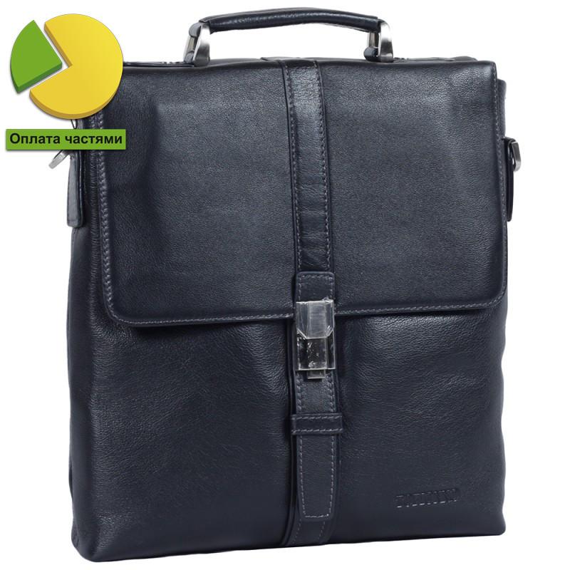 Мужская кожаная сумка-барсетка черная Tofionno TF005117-21