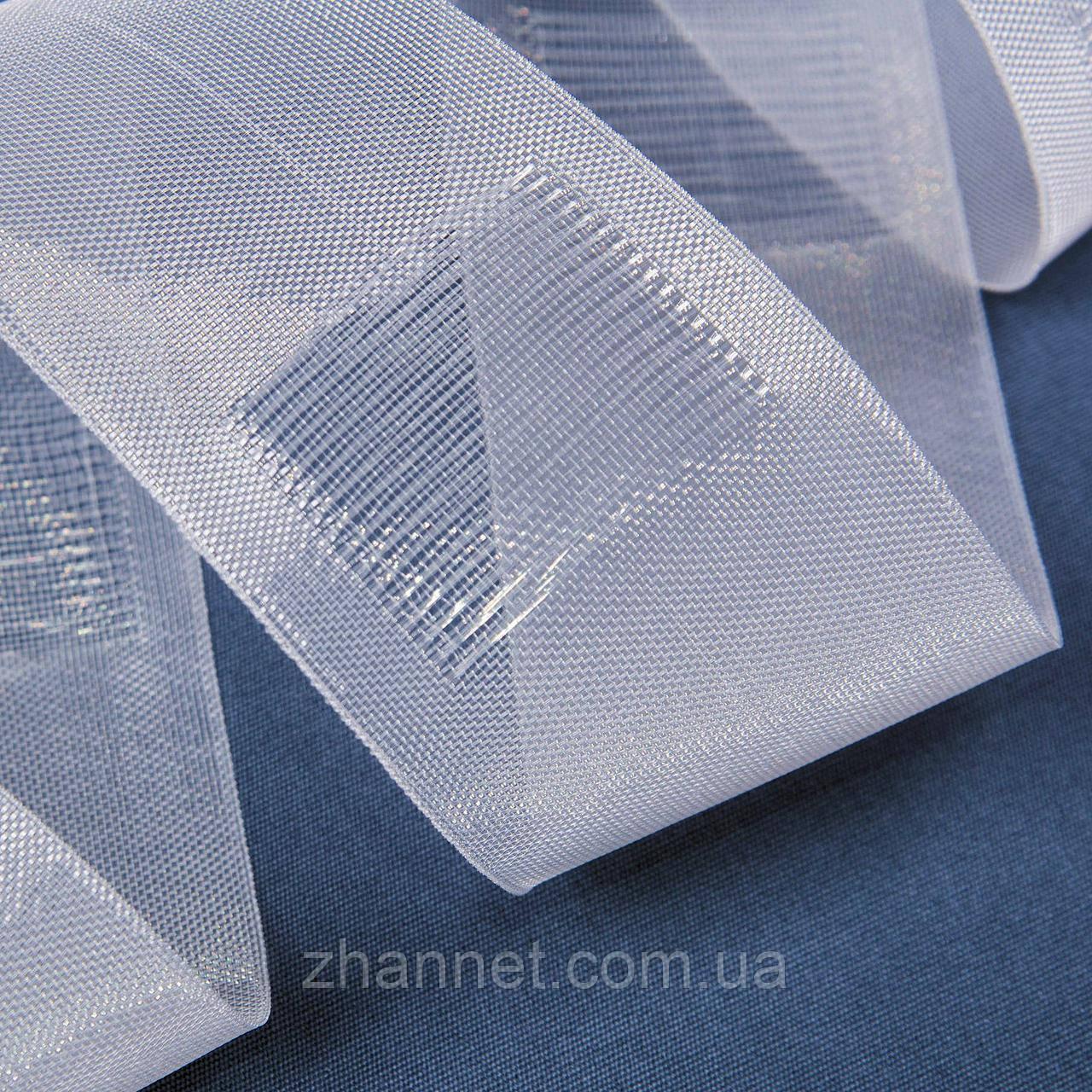 Тесьма для штор прозрачная на трубу 10 см