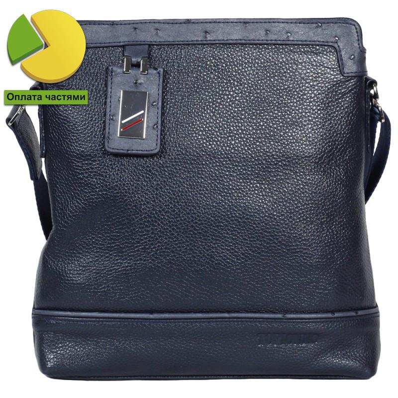 Удобная мужская кожаная сумка через плечо Tofionno TF006815-131 синяя