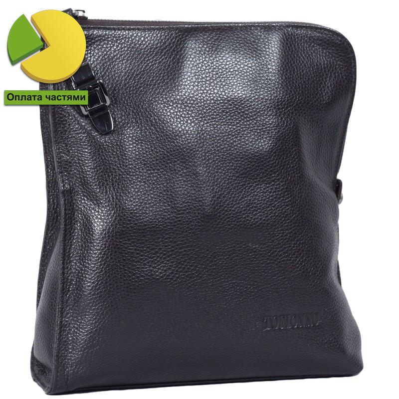 eebbf61adbb4 Мужская сумка через плечо из натуральной кожи коричневая Tofionno  TF008681-121