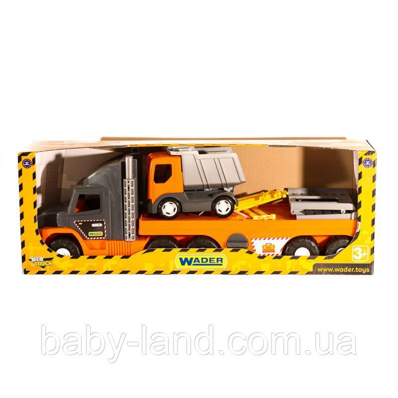 Машина Гигант детская Super Tech Truck с грузовиком Wader 36710