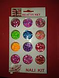 Набор конфети  12 в 1 ,Beauty Sky для дизайна ногтей номер 3, фото 3