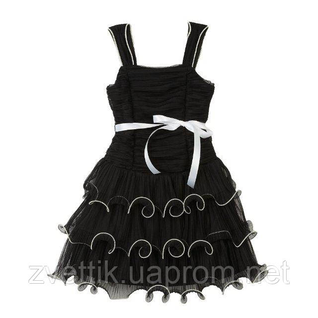 Стильное черное платье (Размер 3-5Т) IZ Amy Byer Tiered Ruffle Dress (США)