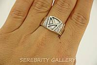 Серебряный перстень Артек размер 20 белое Br 2111072 W 20