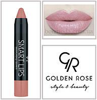 Кремовая помада-карандаш Golden Rose Smart lips moisturising lipstick № 01