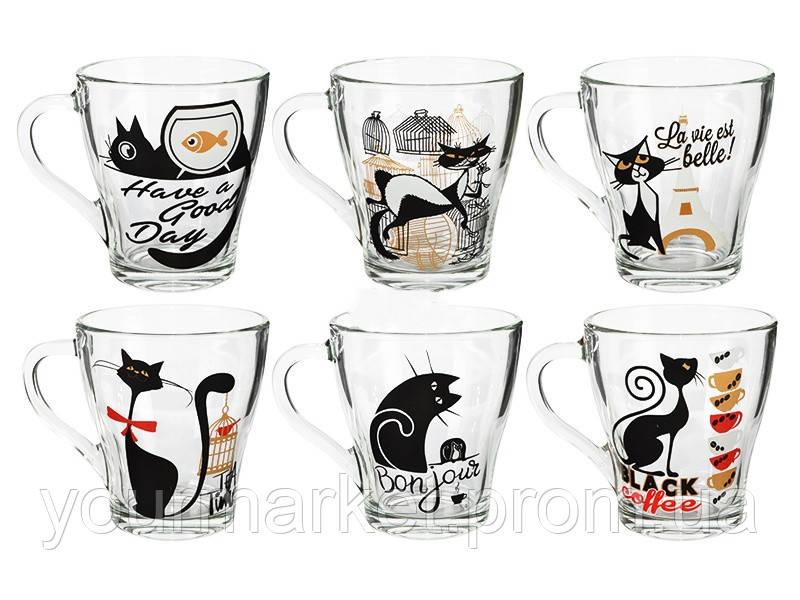 Чашка стеклянная Грация Bonjour cat 250 мл 85003777