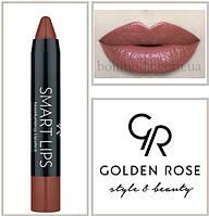 Кремовая помада-карандаш Golden Rose Smart lips moisturising lipstick № 07, фото 1