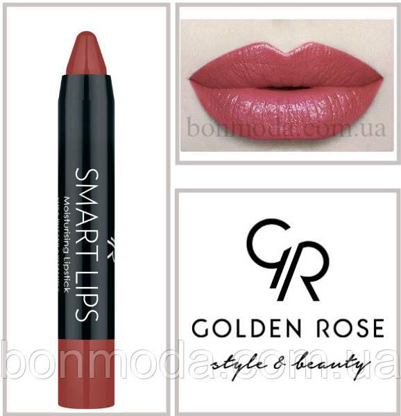 Кремовая помада-карандаш Golden Rose Smart lips moisturising lipstick № 08