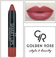 Кремовая помада-карандаш Golden Rose Smart lips moisturising lipstick № 08, фото 1