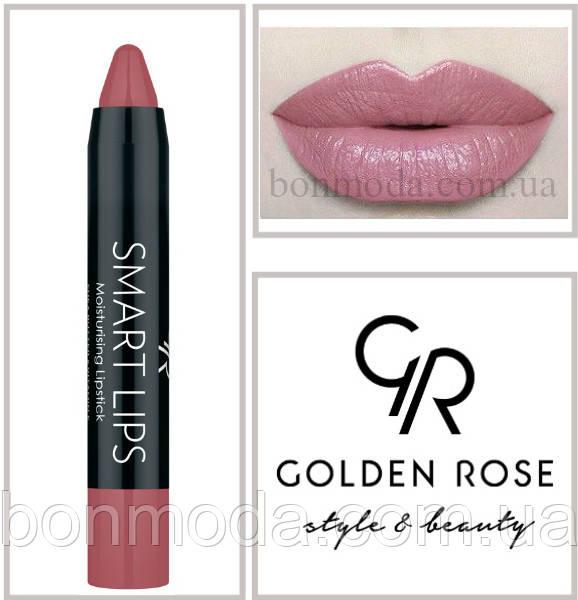 Кремовая помада-карандаш Golden Rose Smart lips moisturising lipstick № 09