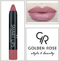Кремовая помада-карандаш Golden Rose Smart lips moisturising lipstick № 09, фото 1