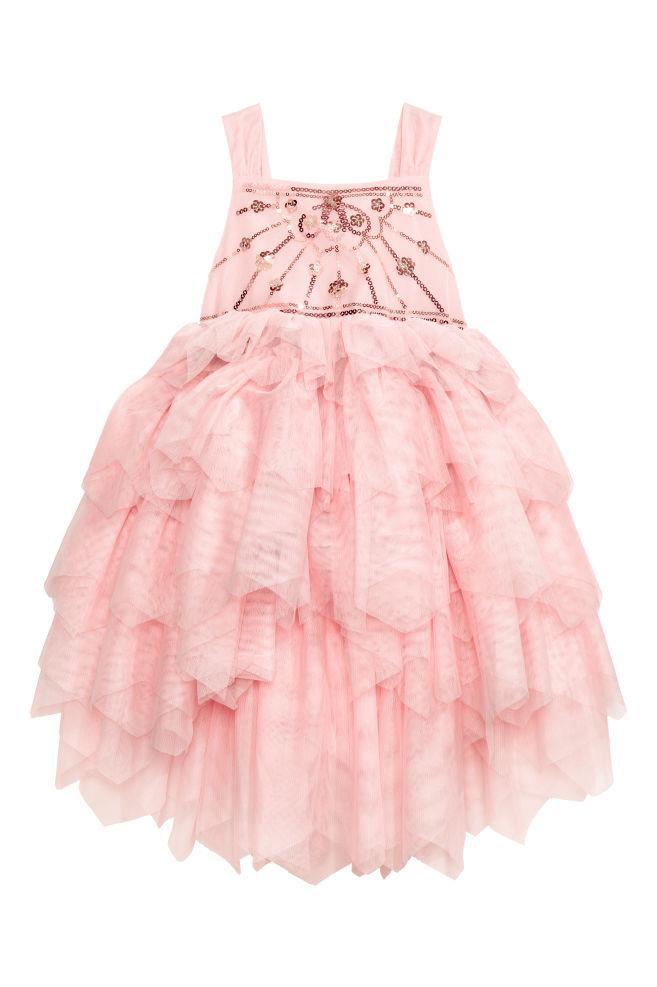 Нарядное очень пышное платье с паетками (Размер 8-9Т)  H&M (CША)