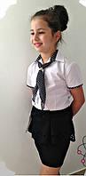 Блузка детская с галстуком  мм632