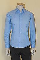 Рубашка мужская  голубая №10-12 - 9, фото 1