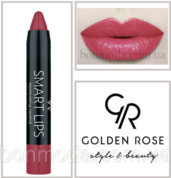 Кремовая помада-карандаш Golden Rose Smart lips moisturising lipstick № 12