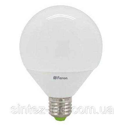 Светодиодная лампа Feron LB-98 G90 GLOBE E27  12W 4000K 230V Код.58047, фото 2