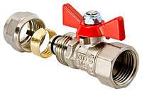 Кран шаровый под обжим для металлопластиковой трубы 16х1/2 вн. Valtec VT.342.N.1604