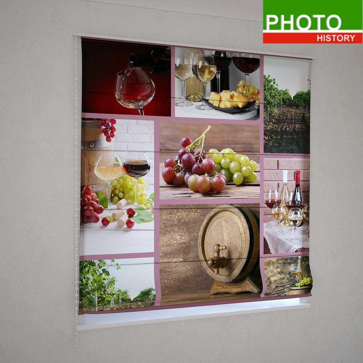 Римские фотошторы винная композиция