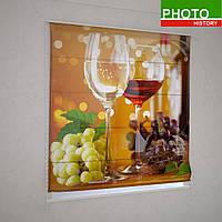 Римские фотошторы бокалы вина