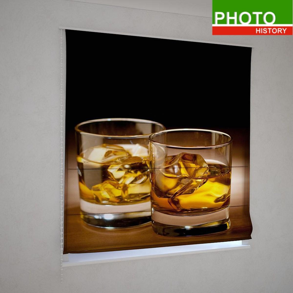 Римские фотошторы виски со льдом