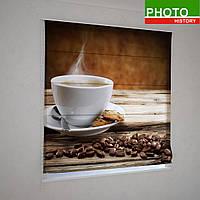 Римские фотошторы кофейный аромат