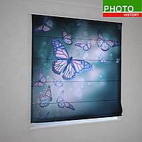 Римские фотошторы порхающие бабочки