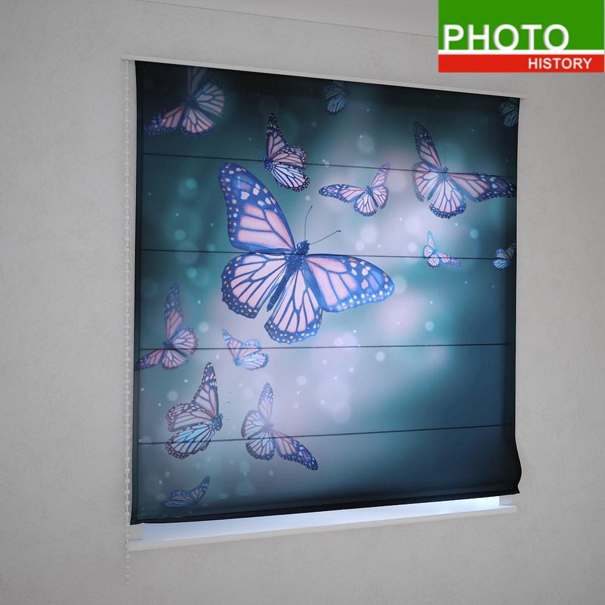 Римские фотошторы порхающие бабочки - Интернет-магазин PHOTOHISTORY в Днепре