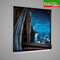 Римские фотошторы ночь в окне