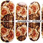 Наклейки цветы Розы для Ногтей Ноготки PhotonailArt Водные Разноцветные, Малая Пластина, Angevi SL 50, фото 3