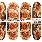 Наклейки цветы Розы для Ногтей Ноготки PhotonailArt Водные Разноцветные, Малая Пластина, Angevi SL 50, фото 4