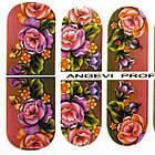 Наклейки цветы Розы для Ногтей Ноготки PhotonailArt Водные Разноцветные, Малая Пластина, Angevi SL 49, фото 3