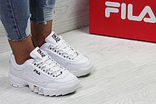 Женские,подростковые кроссовки Fila,белые, фото 3