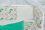 """Пледик для младенца с плюшем Minki в пупырышках """"Сказочный Единорог"""" мятного цвета, фото 3"""