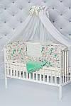 """Пледик для младенца с плюшем Minki в пупырышках """"Сказочный Единорог"""" мятного цвета, фото 4"""