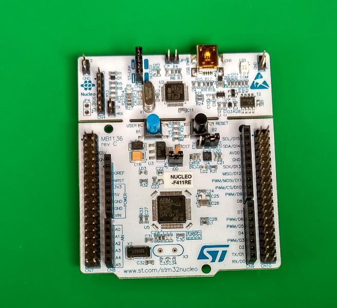 NUCLEO-F411RE, Отладочная плата на базе MCU STM32F411RET6 (ARM Cortex-M4),  ST-LINK/V2-1, Arduino-ин: продажа, цена