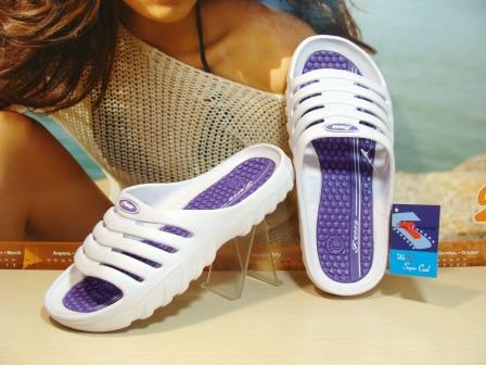 Сланцы женские Super Cool бело-фиолетовые 39 р.