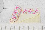 """Яркий детский плед с плюшем Minki с пупырышками """"Жирафы"""" нежного лимонного цвета, фото 3"""