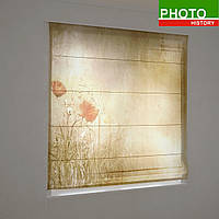 Римские фотошторы разное маки в золоте