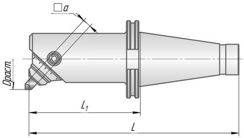 ГРТ.1.50.70.250 Головка расточная Dmin=55, Dmax=70, L=250мм, для черн и получист расточки глухих отверстий ИСО