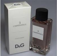 Туалетная вода духи ОРИГИНАЛ Dolce Gabbana D&G 3 L'IMPERATRICE edt - 100ml