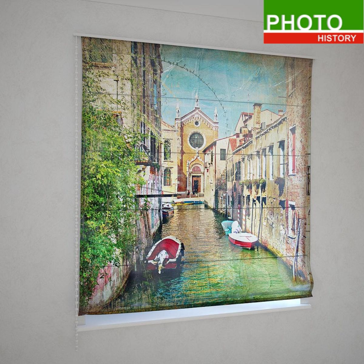 Римские шторы Венеция на воде