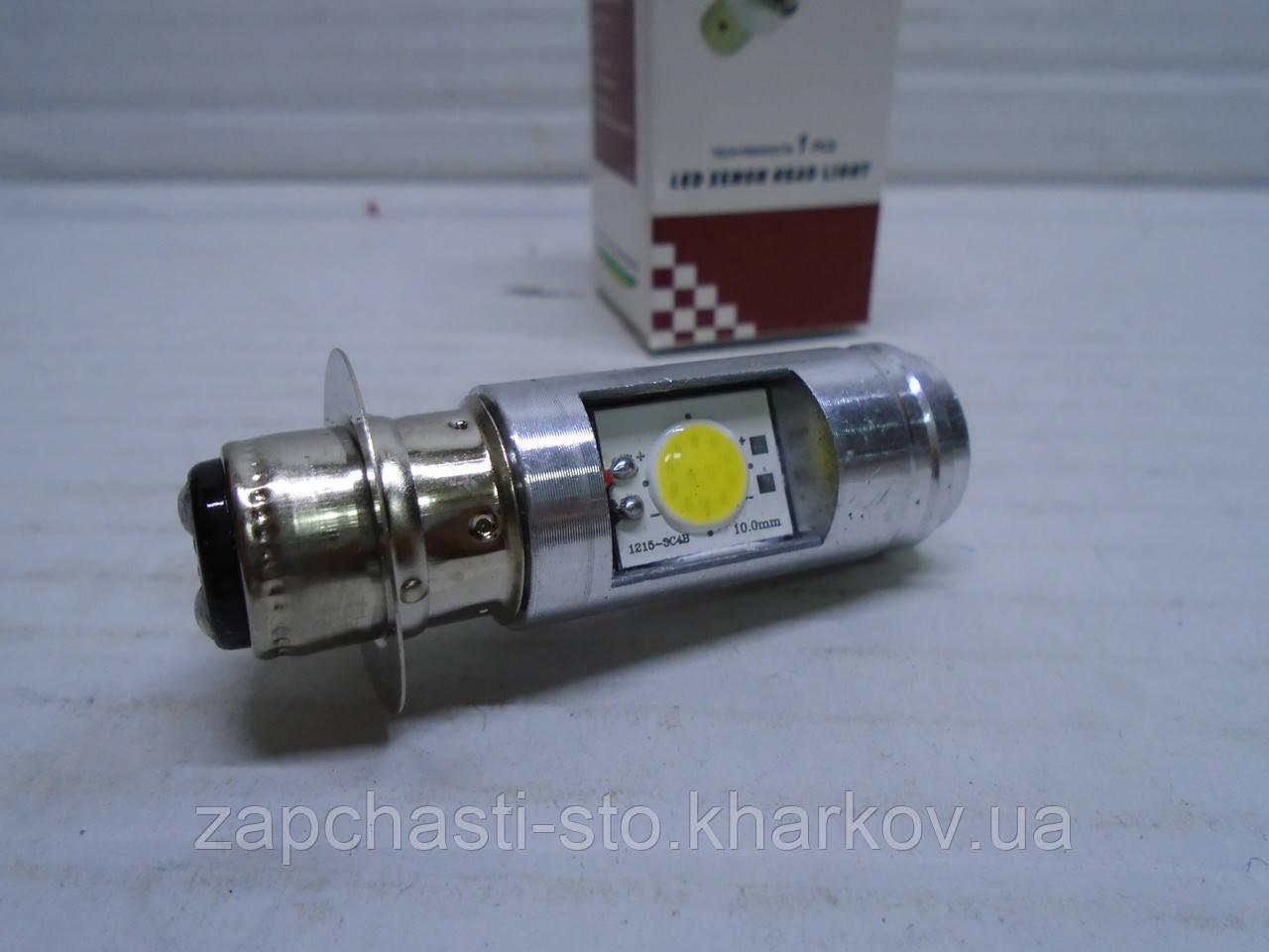Лампа фары для мотоцикла, скутера, мопеда LED светодиодная P15D-25-1