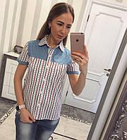 Летняя рубашка из коттона белый, фото 1