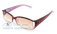 Очки женские для зрения с диоптриями +/- солнцезащитные Код:136