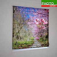 Римские фотошторы цветущие деревья