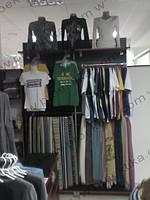 Торговое оборудование для магазина одежды. Стеллажи для одежды