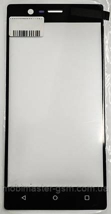 Корпусное стекло на Nokia 3 dual sim черное, фото 2