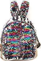 Рюкзаки с паетками и стразами УШКИ (разноцветн)25*26, фото 1