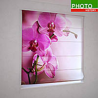 Римские фотошторы ветка орхидеи